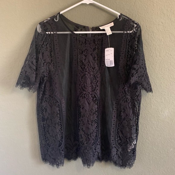 Forever 21 Tops - Black lace top new with tags!